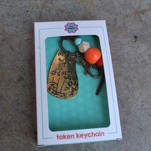 Cat token keychain
